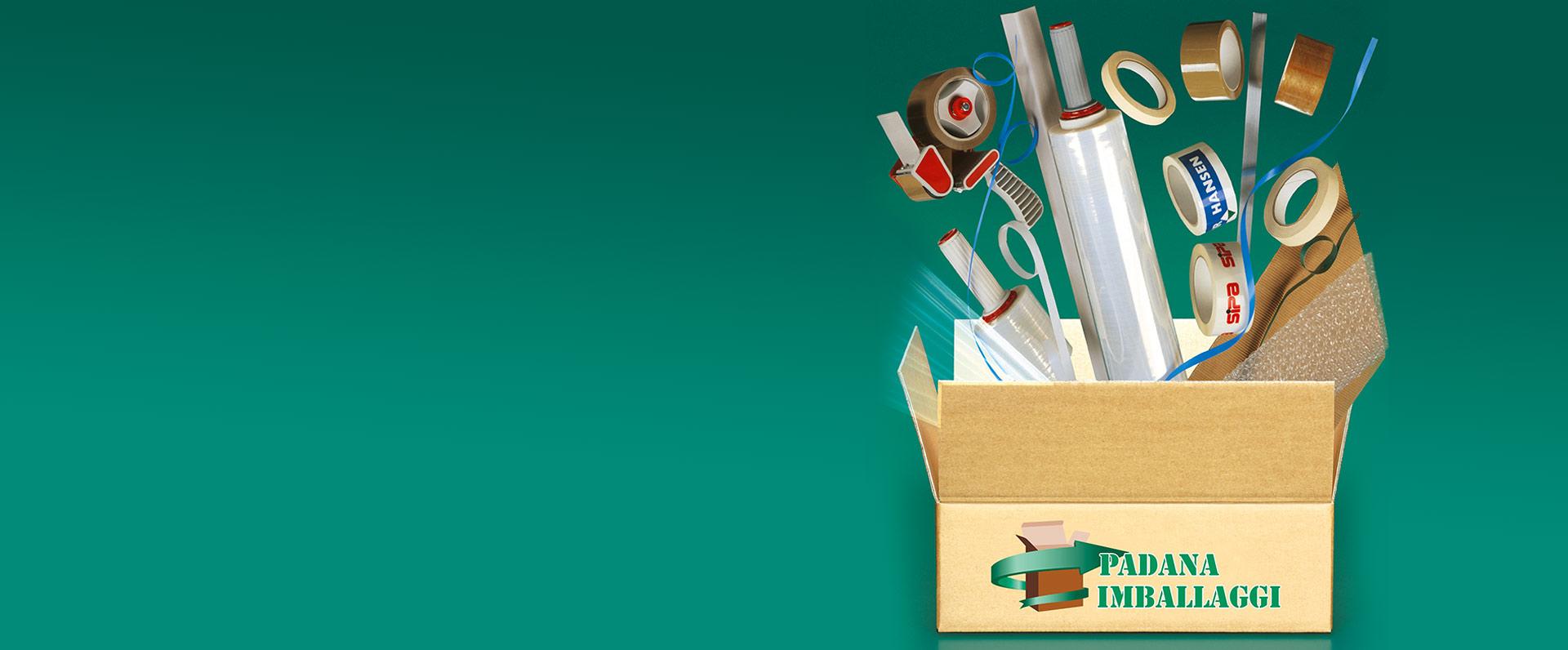 Prodotti per l 39 imballaggio per inscatolare riempire il for Padana imballaggi